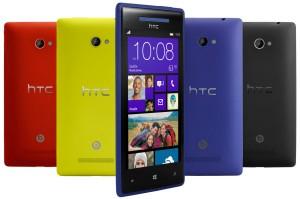 HTC Windows Phone 8X eri väreissä