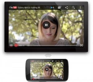 Android 4.2 ja langaton tiedonsiirto televisioon