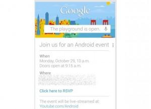 Googlen kutsu Android-tapahtumaan 29. lokakuuta