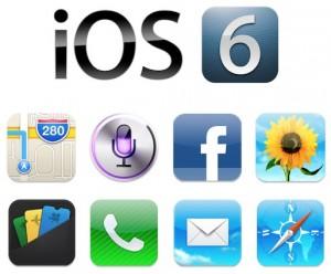 iOS 6 -kuvakkeita
