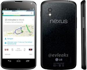 LG Nexus 4 evleaksin julkaisemassa lehdistökuvassa