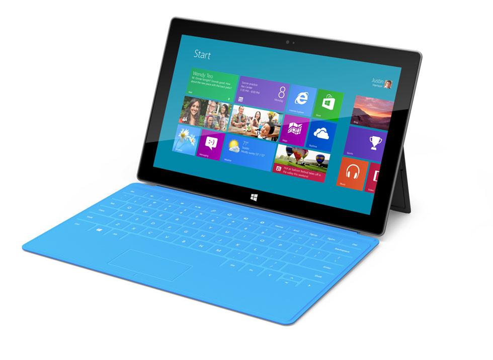 Microsoft Surface RT ja Touch Cover -näppäimistökuori