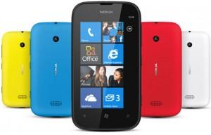 Nokia Lumia 510 eri väreissä