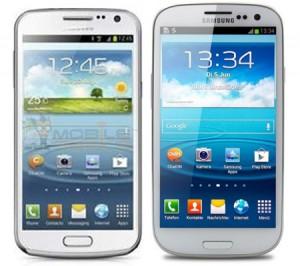 Samsung Galaxy Premier (vasemmalla) ja Galaxy S III
