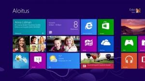 Windows 8:n Aloitus-näkymä