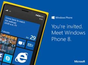 Kutsu Windows Phone 8 -tapahtumaan