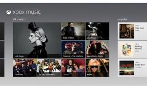 Kuvankaappaus Xbox Music -sovelluksesta