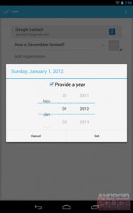 AndroidPolicen julkaisema kuva Android 4.2:n kalenteribugista