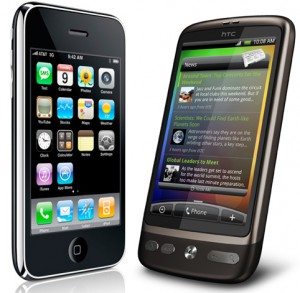 Applen iPhone ja HTC:n Desire