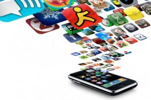 iPhone ja sovelluskuvakkeita