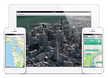 Applen kartat 2012 iPhonessa ja iPadissa.