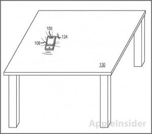 Kuva Applen hiljaisen värinän patenttihakemuksesta