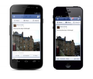 Facebook Androidissa ja iPhonessa