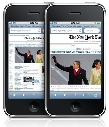 iPhone ja Safari-selain
