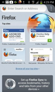 Mozilla Firefox Androidille