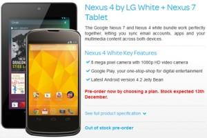 Nexus 4 ja Nexus 7 mainoksessa