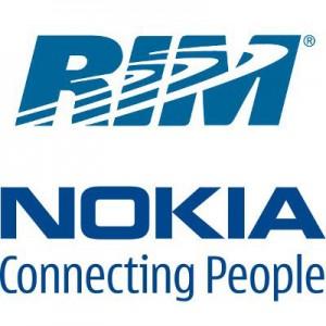 RIMin ja Nokian logot