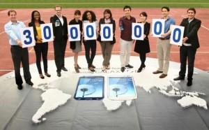 Samsung Galaxy S III: 30 miljoonaa myyty