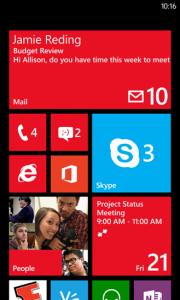 Skype Windows Phonen aloitusnäkymässä