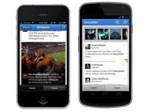 Twitter iPhonessa ja Androidissa