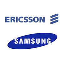 Ericssonin ja Samsungin logot
