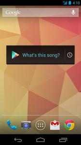Googlen Sound Search -widget-pienoissovellus