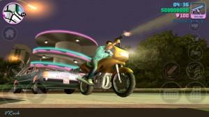 Kuvankaappaus Grand Theft Auto: Vice Cityn iOS-versiosta