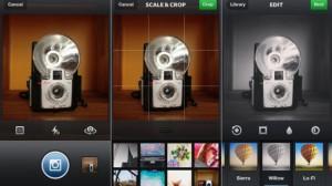 Kuvankaappauksia päivitetystä Instagram-sovelluksesta