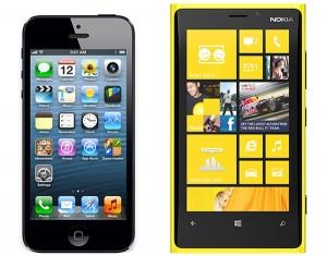 iPhone 5 and Lumia 920