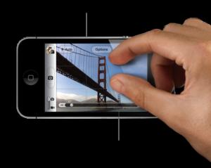iPhonen nipistys-zoomaus