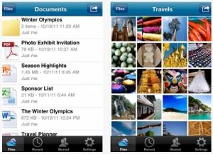 Kuvankaappauksia Microsoftin SkyDrive-sovelluksesta