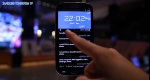 Kuvankaappaus Samsungin Galaxy S III Premium Suite -esittelyvideolta