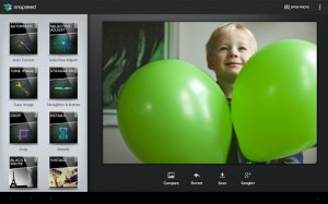 Kuvankaappaus Snapseedin Android-sovelluksesta