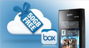 Sonyn Xperioille 50 gigatavua ilmaista pilvitallennustilaa Boxilta