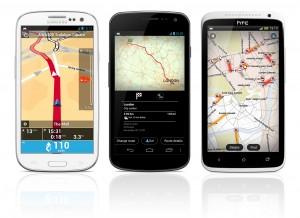 TomTom-navigointi Galaxy S III:ssa, Nexus 4:ssä ja One X:ssä