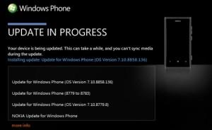 Windows Phone 7.8 -päivitys Zunessa