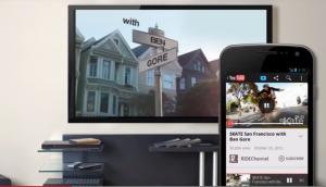 YouTube Android-laitteesta televisioon