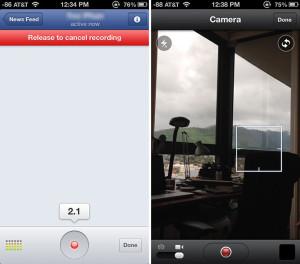 Kuvankaappauksia Facebookin päivitetystä sovelluksesta