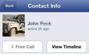 Facebook Messengerin ilmainen puhelu -toiminto