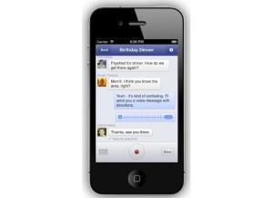 Ääniviestit Facebook Messengerissä