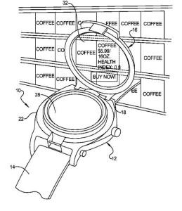 Googlen patentti ylösnousevalla näytöllä varustetusta älykellosta