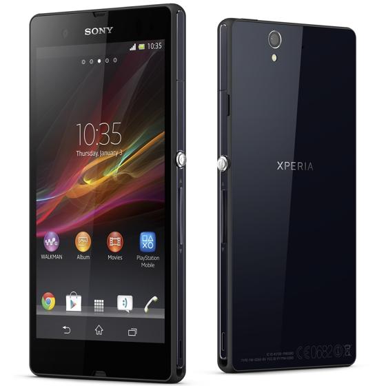 Sony Xperia Z edestä ja takaa