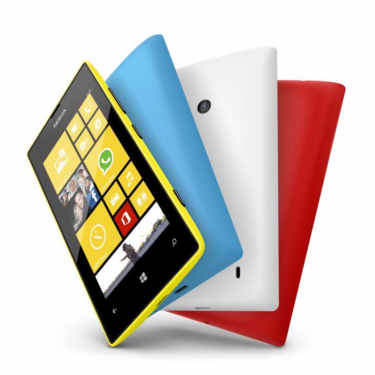 Nokia Lumia 520.