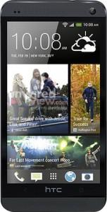 HTC One mustana @evleaksin julkaisemassa kuvassa