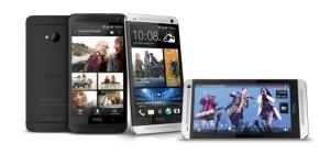 HTC One mustana ja hopeisena