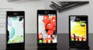 LG Optimus L5 II, LG Optimus L7 II sekä LG Optimus L3 II