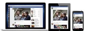 Facebookin uudistunut etusivu eri laitteissa