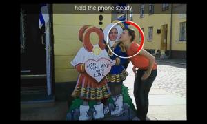 Kuvankaappaus Nokian Elävä kuva (Cinemagraph) -sovelluksesta