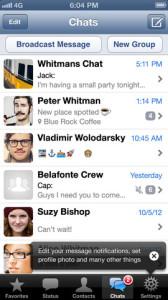 Kuvankaappaus WhatsAppin iOS-sovelluksesta