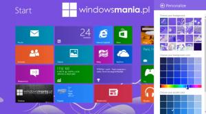 Kuvankaappaus Windows 8:n Blue-päivitystä esittelevältä Windowsmania.pl:n videolta